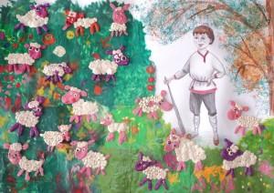 творческий проект Пастух по рассказу Л.Толстого Лгун 1Б класс