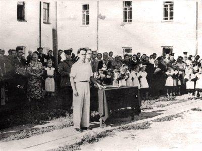 Линейка, посвященная 1 сентября 1957 год