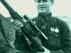 Снайпер Василий Григорьевич Зайцев, уничтоживший с 10 ноября по 17 декабря 1942 года 225 солдат и офицеров германской армии и армий их союзников